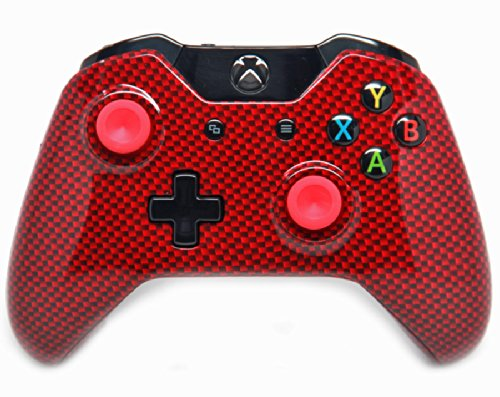 """Carbon Red"" Xbox One Custom UN-MODDED Controller Exclusive Design"