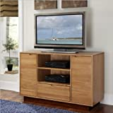 Home Styles 5526-10 Nova Entertainment TV Credenza, Natural Teak Finish