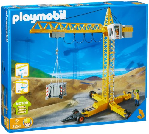 playmobil crane best buy action figures toys. Black Bedroom Furniture Sets. Home Design Ideas