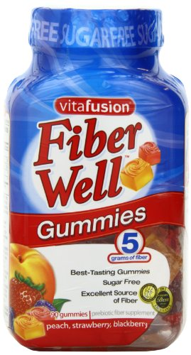 Vitafusion Fiber成人无糖膳食纤维软糖90粒