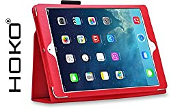iPad Air Case, HOKO Red Leather Flip Case Cover Stand with magnetic closure for Apple iPad Air (Auto wake and sleep)