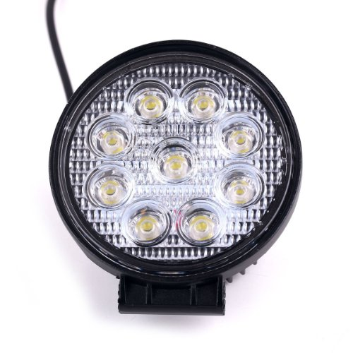 Zxmoto 27W Led Work Light Spot Beam Round Lamp 12V 24V For Tractor Offraod Truck Jeep 4X4 Suv Atv Utv