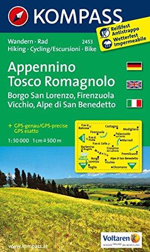 Carta escursionistica n. 2453. Appennino Tosco Romagnolo. Adatto a GPS. DVD-ROM. Digital map