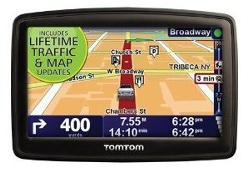 TomTom XXL 540TM World Traveler 5-Inch Portable GPS Navigator with Lifetime Traffic & Maps and World Maps