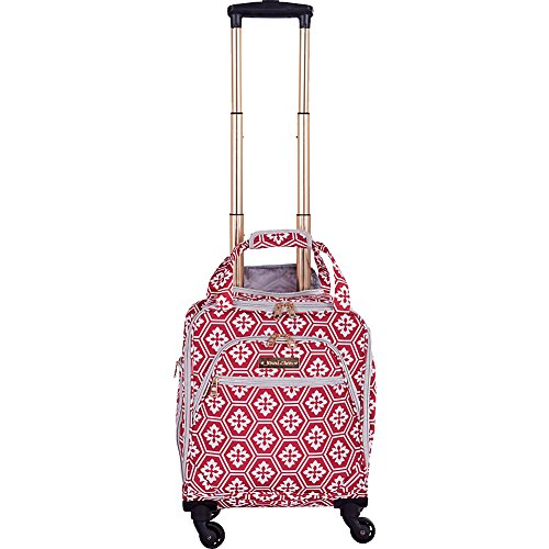 jenni-chan-aria-snow-flake-15-spinner-tote-red
