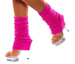 Smiffy's Unisex-Adult Leg Warmers, Hot Pink, One Size