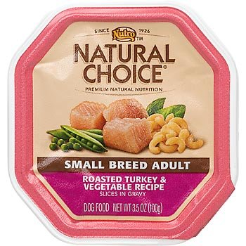 Nutro Natural Choice Small Breed Adult Dog Food Roasted Turkey & Vegetable Slices In Gravy, 3.5 Oz, Pack Of 24