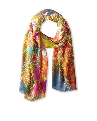 Tolani Women's Floral Scarf, Lime