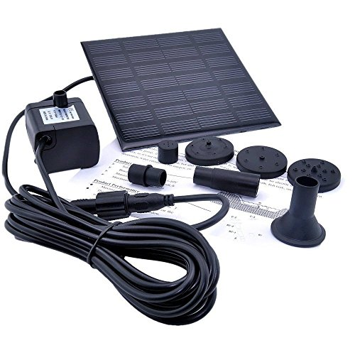 Energy Controllers solar powered outdoor lights Solar Water Panel Power Fountain Pump Kit Pool Garden Pond Watering Submersible solar powered charger (Solar Panel Pond Heater compare prices)