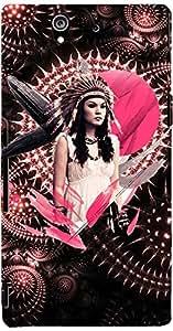 PRINTVISA Girly Tribal Pink Case Cover for Sony Xperia Z