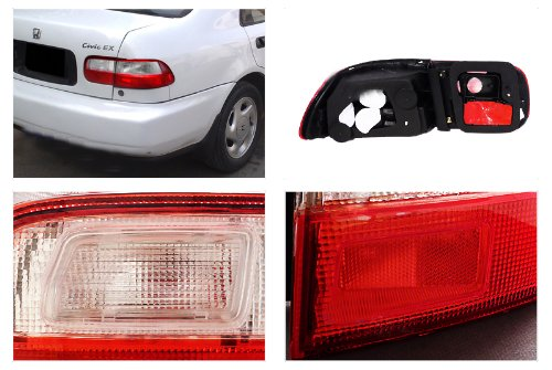 Honda Civic Eg 2Dr Jdm Red/Clear Tail Lights Depo шина yokohama parada spec x pa02 245 45 r20 99v