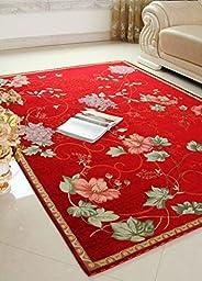 XH@G Bathroom mat mat stepping pad kitchen absorbent pad , wine red , 60*90cm
