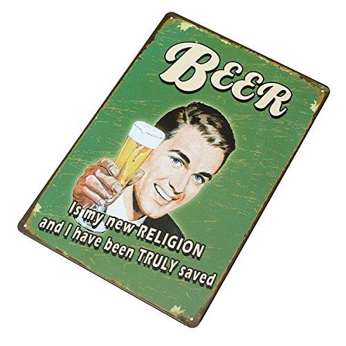 Beer Tin Sign Vintage Metal Plaque Poster Bar Pub Home Wall Decor 2