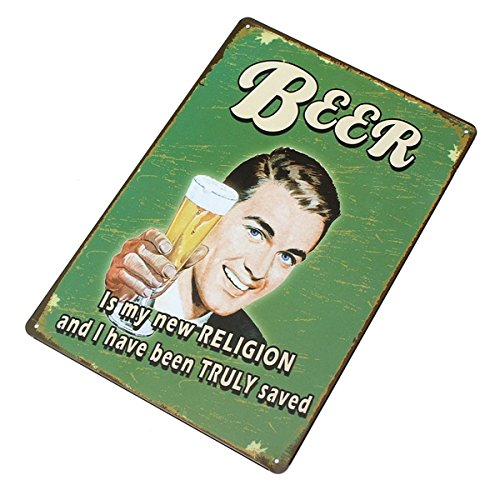 Beer Tin Sign Vintage Metal Plaque Poster Bar Pub Home Wall Decor 2