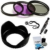 62mm PREMIUM Filter Kit (UV CPL FLD) & Digital Lens Hood Bundle For Select Pentax Digital Cameras. Bundle Includes...