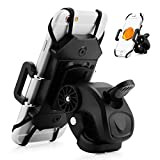 UShake Bike Phone Mount Bicycle Phone Holder for iPhone X (8, 7, 5, 6 6s Plus), Samsung Galaxy S8, S7, S6, S5 Or Any Cell Phone - Universal Handlebar Holder for ATV, Motorcycle, and Scooters.