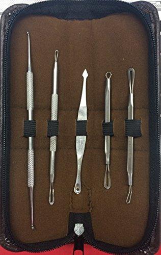 5 Pcs Blemish Acne Pimple Whitehead Blackhead Remover Extractor Tool Kit Set front-330257