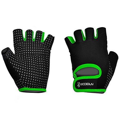 Ezyoutdoor 1 Pair Breathable Bike Half Finger Cycling Gloves Short Mesh Bicycle Biking Riding Fitness Exercise Gym Training Gloves (Green, Medium) (Plumbers In Seattle compare prices)
