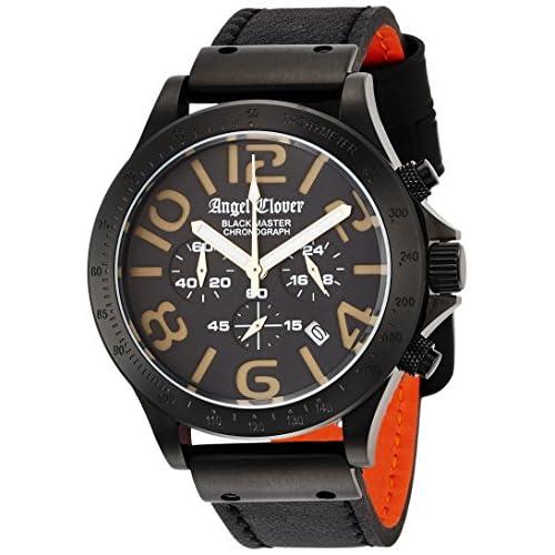 [エンジェルクローバー]Angel Clover 腕時計 ブラックマスターミリタリー ブラック文字盤 ステンレス(BKPVD) クロノグラフ デイト BM46BGD-BK メンズ