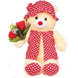 Tickles Jacket Teddy With Rose Stuffed Soft Plush Toy For Kids