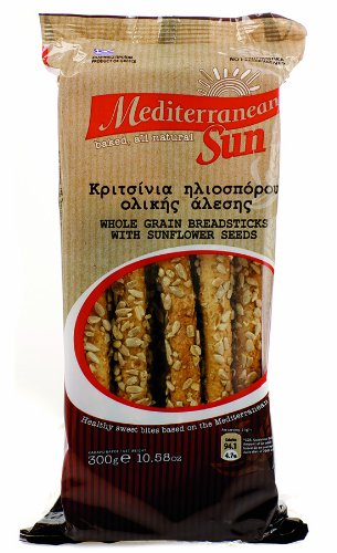 Mediterranean Sun Breadsticks with Sunflower Seeds 300 g (Pack of 5)