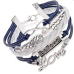 Sorella'Z Multicolor Cotton, Alloy Metals Charm Bracelet Unisex
