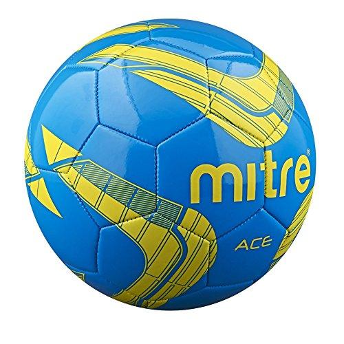 Mitre Ace Pallone da Calcio, Blu/Giallo, 5