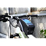 Lohai cycling | ROSWHEEL Bicycle bike frame bag, head tube bag, cycling front tube phone bag holder with super clear PVC screen for iphone 6s/6/5/5s/5c, Samsung Galaxy Note 4/3/2, S5/S4/S3, ipod and other smart phone with screen up to 5.7 inch