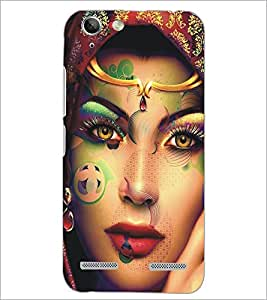 PrintDhaba Beautiful Face D-5453 Back Case Cover for LENOVO VIBE K5 (Multi-Coloured)
