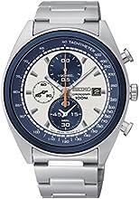 Comprar Seiko Chronograph - Reloj de cuarzo para hombre, correa de acero inoxidable color plateado