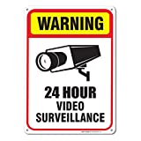 24 Hour Video Surveillance Sign 7 x 10 .40 Aluminum sign