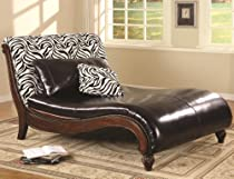 Hot Sale Zebra Print Lounge Chair by Coaster