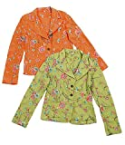 Johnny Was Star Floral Jacket large Orange