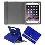 ACM ROTATING 360° LEATHER FLIP CASE FOR APPLE IPAD AIR 1 TABLET STAND COVER HOLDER DARK BLUE