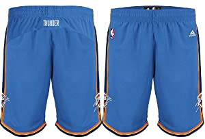 Buy Adidas Oklahoma City Thunder Youth (Sizes 8-20) Swingman Road Shorts by adidas
