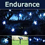 PowerBee � Endurance Deluxe Solar Star Lights 100 Quality Superbright LED's Multi Function Indoor / Outdoor Garden, Party, Tree Lights for ALL YEAR round use including winterby PowerBee Ltd