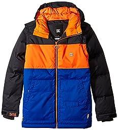 DC Big Boys\' Downhill Boy Snow Jacket, Anthracite, 8/X-Small