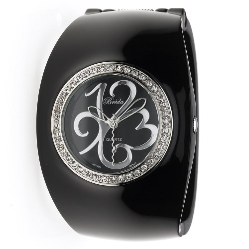 "Breda Women's 6223_blk ""Hannah"" Oversized Plastic Bangle Watch"