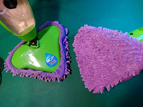 For Sale! Deluxe Coral Microfiber Mop Pads compatible with T1 H20 H2OFlo Steamboy Mop (Set of 2) (2Purple Coral Mops)