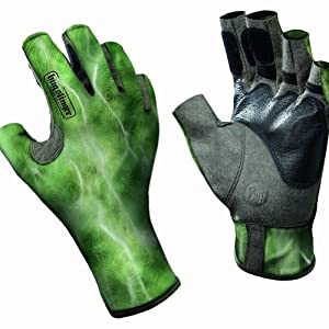 Buff Pro Series - Angler II Gloves BS Water Camo Green, S M by Buff