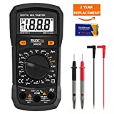Tacklife Digital Multimeter, DM03B Electrical Manual-Ranging Amp Volt Ohm Meter 2000 Counts Diode and Continuity Tester Voltage Detection with LCD Display Backlight