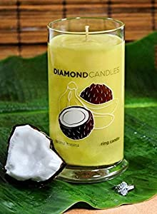Coconut Banana Scent Diamond Ring Jar Candle (Rings Inside Value From $10 to $5000)