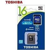 東芝 microSDHC 16GB 防水 SD変換アダプター付属 Class4 TOSHIBA microSD 国内パッケージ品 SD-MG16GA