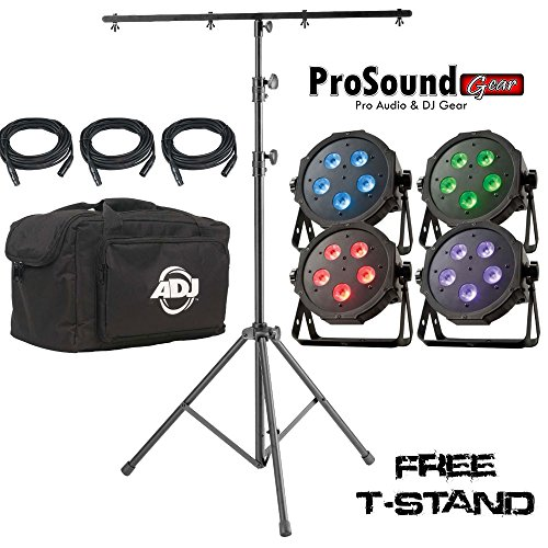Adj Products Mega Flat Tri Pak Bright Tri Colored Led + Free Tall Tripod Stand With 4-Bolt T-Bar