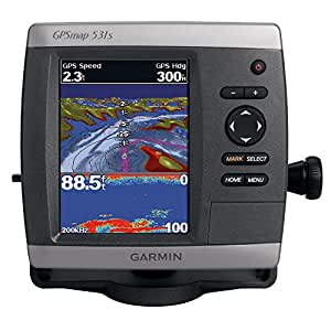 Garmin GPSMAP 531s 5-Inch Waterproof Marine GPS and Chartplotter with Sounder