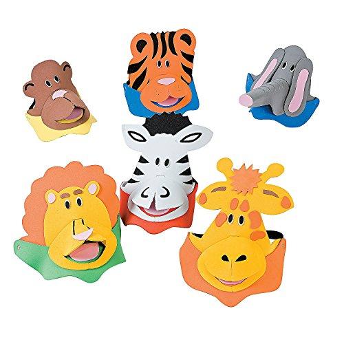 Foam Zoo Animal Themed Visor Assortment (1 dz)