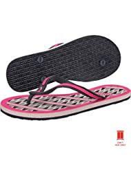 Puma Women's Lucie 2 Tribal Wn's Ind. Turbulence, Fluo Pink and Opal Gray Rubber Flip-Flops and House Slippers... - B00DV1GB80