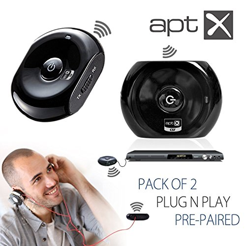 IPERprice - Prodotto del Giorno 27 Giugno 2016: Avantree Pre-paired 2 PCS Bluetooth Audio Transmitter and Receiver for Wireless Streaming Audio from TV DVD Via Old Home Stereo or Wired Headphones - Saturn Set - Foto 7