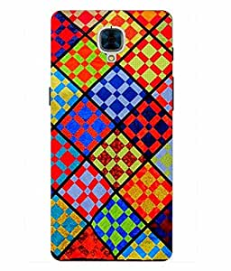 Snazzy Printed Multicolor Hard Back Cover For One Plus 3