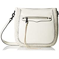 Rebecca Minkoff Regan Feed with Studs Shoulder Bag (Antique White)